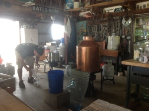 This pretty much captures the entire operation at Black Swamp Distillery.